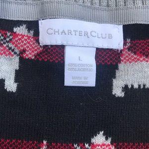 Charter Club Sweaters - SCOTTIE DOG sweater black red gray knit TOP L